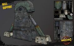 The Gearbox Art Team has prepared some images of some of the art that went into Borderlands Game Environment, Environment Concept Art, Borderlands 1, Cyberpunk City, Game Props, Study Design, Texture Mapping, Game Design, Game Art