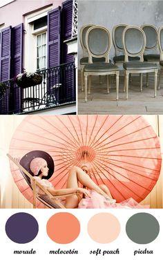peach, purple, grey, wedding, colour palette,