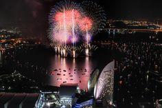 The 27th Kanagawa Shinbun fireworks festival.   (From The Landmark Tower)