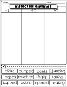Printables Inflectional Endings Worksheet inflected endings dealing with plurals this is a really neat game the lesson plan diva freebies endings