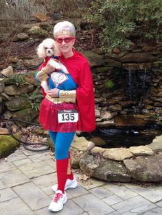 Our outfits for the CASA Superhero 5K