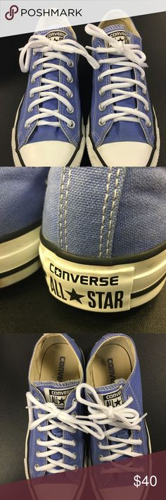 👟CONVERSE SNEAKERS!!! LIKE NEW CONDITION!! Classic and AWESOME. Super deal!! Baby blue CONVERSE sneakers. BRAND NEW WHITE LACES TOO!!! Converse Shoes Sneakers