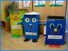 Kreativna kućica - by Ivana - Ideas Creativas Creative Curriculum, Recycled Furniture, Animation, Kindergarten, Preschool, Coding, Green Day, Facebook, Halloween