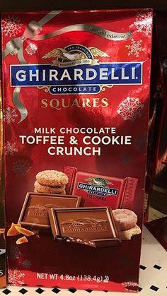 Ghirardelli Chocolate Squares Milk Chocolate Toffee and Cookie Crunch Ghirardelli Chocolate Squares, Chocolate Toffee, Cookie Crunch, Lindt Lindor, Toffee Cookies, Snack Recipes, Snacks, Guilty Pleasure, Pop Tarts
