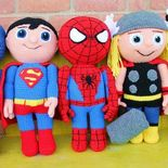 The absolute best Hero Dolls I have found. And they are FREE patterns. Grabs them while you can.   Ravelry: Green Buddy - Kid Hero pattern by Mary Smith