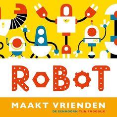 Vrolijk gekleurd boekje op rijm over een robot die van afval nieuwe robotvrienden maakt. De robots zijn vriendelijk vormgegeven en tonen zelfs emoties!