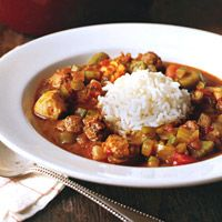 Chicken and Smoked-Sausage Gumbo - Chicken Sausage Soup Recipes - Chicken Sausage Stew Recipes - Delish.com