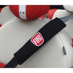 FIAT 500 Seat Belt Shoulder Pads (set of 2) - FIAT Logo - FIAT 500 Parts and Accessories