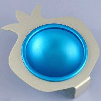 Sleek Silver and Turquoise Condiment Cup