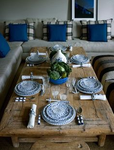 Love something blue and rustic wood - Zara Home Spring Summer 2015