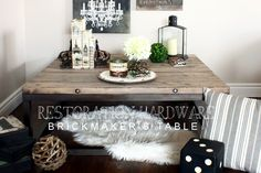 Brickmaker's table in all wood - lots of ideas on this page