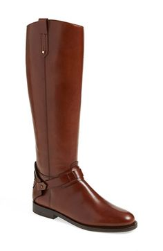 Free shipping and returns on Tory Burch 'Derby' Riding Boot (Women) (Nordstrom Exclusive) at Nordstrom.com. A cutout Tory Burch medallion embellishes the heel of a quintessential riding boot shaped from smooth, burnished leather.