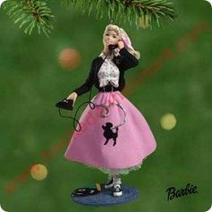 Barbie Hallmark ornaments | 2001 1950s Barbie Ornament Hallmark Ornament