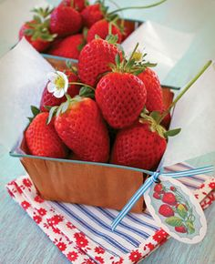 Love strawberries...i can almost smell their sweetness.