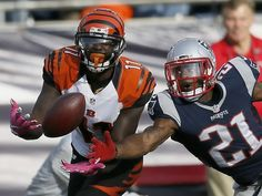 Bengals vs. Patriots:     October 16, 2016  -  35-17, Patriots  -     New England Patriots cornerback Malcolm Butler (21) breaks up a pass intended for Cincinnati Bengals wide receiver Brandon LaFell (11) down the sideline in the fourth quarter of the NFL Week 6 game between the New England Patriots and the Cincinnati Bengals at Gillette Stadium in Foxboro, Mass., on Sunday, Oct. 16, 2016. The Bengals fell to 2-4 with a 35-17 loss in Tom Brady's first home game since his four-game…