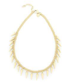 Look what I found on #zulily! Gold Chain Spike Necklace #zulilyfinds