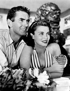 Tyrone Power and second wife Linda Christian, m. 1949. She was the first Bond girl.