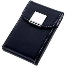 c729004660e43 Pristine Black Leather Business Card Case Business Card Case