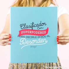 Clasificador - Carpeta con superpoderes para decirle adiós al desorden'