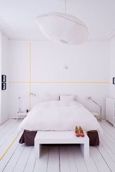 Washi Tape Walls - yellow lines