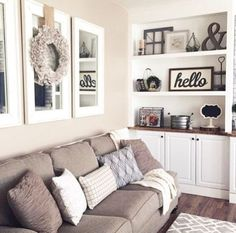 Living Room Decor - Mirrors and Wreath