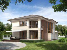 Dwukondygnacyjny dom z garażem jednostanowiskowym - Alabaster (188,50 m2). Pełna prezentacja projektu dostępna jest na stronie: https://www.domywstylu.pl/projekt-domu-alabaster.php. #alabaster #dom #domy #projekty #projekt #domywstylu #mtmstyl #projektygotowe #domypietrowe #domynowoczesne #modernhouses #design #home #houses