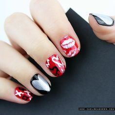 SHARES Share Pin Holidays bring the best inspiration for adorable nail art designs, and Valentine's Day is no exception. Finding the perfect candy heart, hot pink, or simple Valentine's Day Nail Designs, Black Nail Designs, Nails Design, Trendy Nails, Cute Nails, Manicure Rose, Jolie Nail Art, Valentine Nail Art, Valentines