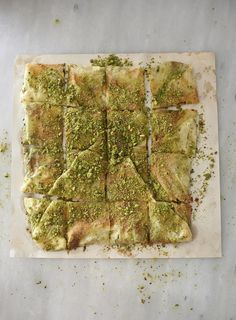 Katmer Pistachio Pancakes with Clotted Cream - Dish Sweet Recipes, New Recipes, Favorite Recipes, Food And Travel Magazine, Filo Pastry, Sydney Restaurants, Clotted Cream, Sweet Pastries, Pastry Recipes