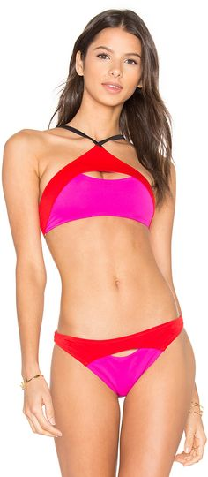 06571fe455 Shop for L Agent by Agent Provocateur Alenya Bikini Bottom in Pink Red    Black at REVOLVE.