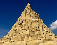 Ten Designers Set the Guinness World Record for Building the Tallest Sandcastle in Duisburg, Germany Sand Sculptures, Guinness World, Sand Art, World Records, Set Design, Unique Art, Monument Valley, Castle, Around The Worlds