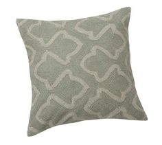 Brielle Crewel Embroidered Metallic Pillow Cover 20