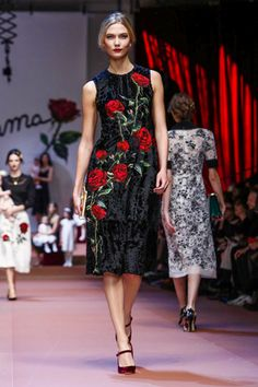 Mother's Day came early at the Dolce and Gabbana show. The sweet maternal adoration started with the invitations: childhood drawings done by the designers that their mothers had put away for safe k...