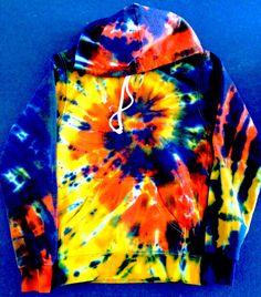 Amazon multi color tie dye zip up hoodie for men women 35 tie dye hoodie free shipping hoody tye die by tiedye4ink on etsy https voltagebd Image collections