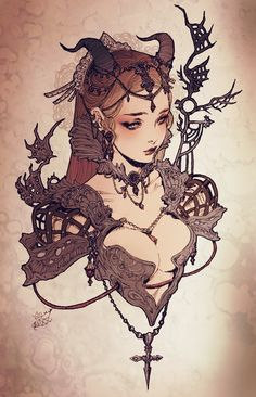 Dark Fantasy Art, Fantasy Girl, Female Character Design, Character Drawing, Character Design Inspiration, Art Sketches, Art Drawings, Pretty Art, Fantasy Characters
