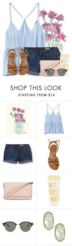"""""""Home safe and sound"""" by auburnlady ❤ liked on Polyvore featuring Gap, Aéropostale, Stuart Weitzman, Kate Spade, ban.do, Ray-Ban and Kendra Scott"""