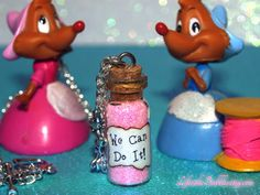 We Can Do It Magical Necklace with Mice Charms by LifeistheBubbles