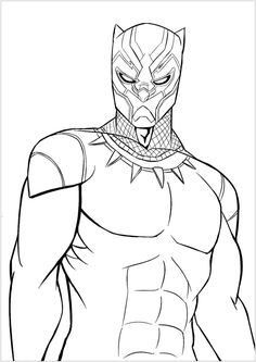 Black Panther Marvel Coloring Pages from Black Panther Coloring Pages. Black Panther - T'Challa - is a character from the Marvel Comics. For a while, Black Panther was a member of the Avengers. By eating a particular herb. Avengers Coloring Pages, Superhero Coloring Pages, Spiderman Coloring, Lego Coloring Pages, Marvel Coloring, Halloween Coloring Pages, Animal Coloring Pages, Coloring Pages To Print, Printable Coloring Pages