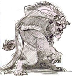 Beauty and the Beast (1992) sketch by Glen Keane
