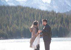Brainard Lake Fall Proposal Talking to Soon to be Fiance
