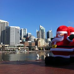 Santa at Darling Harbour, Sydney  #Australia  # travel (Photo by darlingharbour)