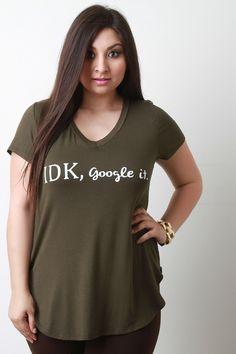 IDK Google It Short Sleeve Graphic Tee
