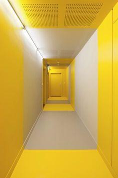 Home, Parigi, 2015 - Hamonic + Masson, Comte & Vollenweider Architectes #corridors