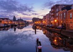 The Harbour of the City of Leiden as seen from the Herengracht.   checkout my best of 2016 blogpost http://ift.tt/2hydAs7   (c)2016 martijnvandernat.nl all rights reserved . . . .