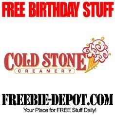 BIRTHDAY FREEBIE - Cold Stone Creamery - FREE BIRTHDAY STUFF - FREE Bday Ice Cream #freebirthday