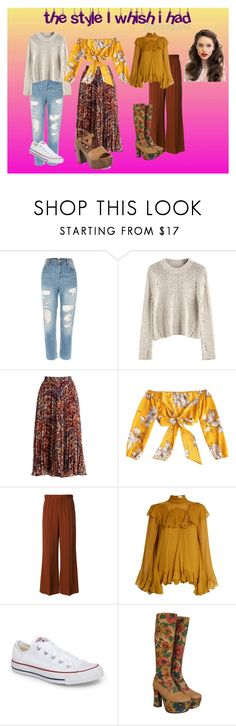 """Untitled #117"" by unicorns-mermaids24 ❤ liked on Polyvore featuring Haute Hippie, Chloé, Converse, Steve Madden and Franklin"