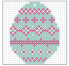 Easter decoration made of iron beads – original handicraft projects and free templates for figures – new best Hama Beads Design, Diy Perler Beads, Pearler Beads, Fuse Beads, Pearler Bead Patterns, Perler Patterns, Create And Craft, Crafts To Make, 3d Figures