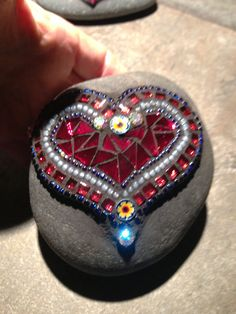 Mosaic Rock of love by Moonjewelsandmosaics on Etsy, $35.00