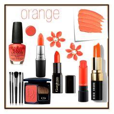 """Orange"" by nikitaanisha on Polyvore featuring beauty, JINsoon, Illamasqua, Christian Dior, Bobbi Brown Cosmetics, Kate Spade, Post-It, MAC Cosmetics and Gorgeous Cosmetics"
