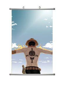 Anime wall scroll με τον Portgas D. Ace και το τατουάζ των Whitebeard Pirates στην πλάτη του, από το One Piece!