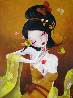 Flowery Silks by LadySybile